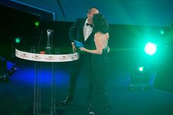 Robert Kubica on stage with Presenter Lee McKenzie