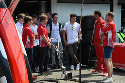 Sebastian Vettel, Ferrari with ADAC Formula 4 drivers