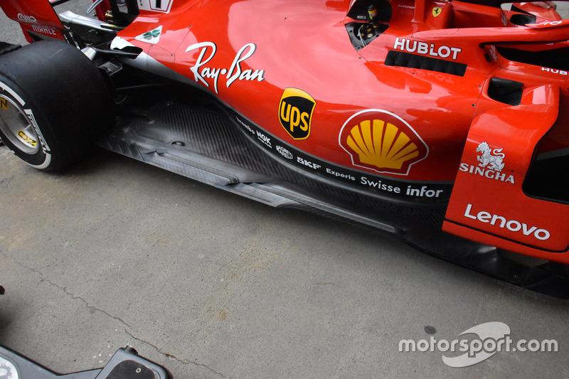 Ferrari SF71H suelo