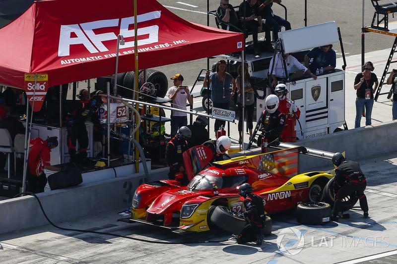 #52 AFS PR1 Mathiasen Motorsports Ligier LMP2, P: Sebastian Saavedra, Gustavo Yacaman, Pit Stop