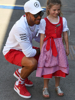 Lewis Hamilton, Mercedes-AMG F1 and young fan