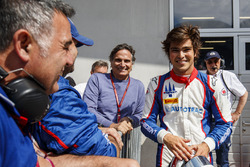 Second place Pedro Piquet, Trident, with father, Nelson Piquet.