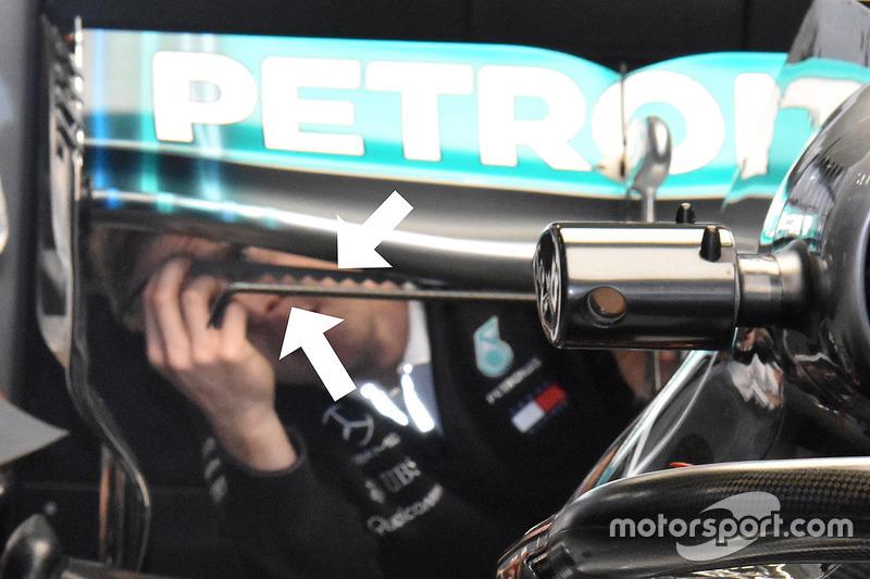 Генератор вихорів Mercedes AMG F1 W09