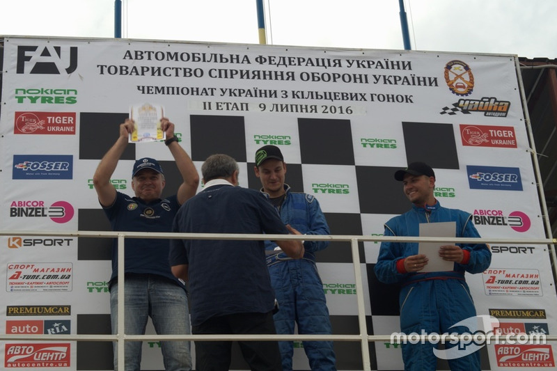 Подіум GCC Лада1600: Олейников, Ткаченко, Іванько