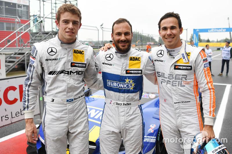 Qualifying: Polesetter Gary Paffett, Mercedes-AMG Team ART, Mercedes-AMG C63 DTM;third Paul Di Resta, Mercedes-AMG Team HWA, Mercedes-AMG C63 DTM; second place Robert Wickens, Mercedes-AMG Team HWA, Mercedes-AMG C63 DTM