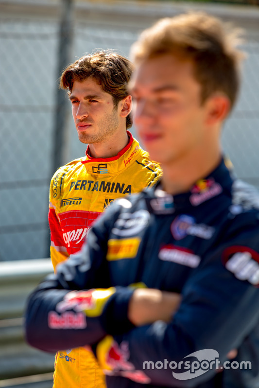 Pierre Gasly, PREMA Racing and Antonio Giovinazzi, PREMA Racing