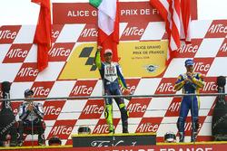 Podium: Race winner Valentino Rossi, Yamaha; second place Jorge Lorenzo, Yamaha; third place Colin Edwards, Tech 3