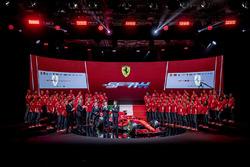 Sebastian Vettel, Ferrari, Kimi Raikkonen, Ferrari, Maurizio Arrivabene, Ferrari