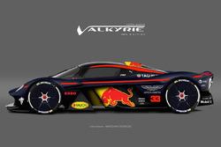 Гоночная ливрея Aston Martin Red Bull для Valkyrie
