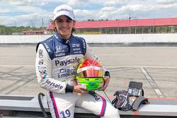 Pietro Fittipaldi durante su primera prueba en IndyCar después de lesionarse