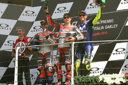 Podium: racewinnaar Jorge Lorenzo, Ducati Team, tweede plaats Andrea Dovizioso, Ducati Team, derde plaatsValentino Rossi, Yamaha Factory Racing