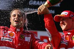 Podium: winner Felipe Massa, Ferrari, third place Michael Schumacher