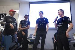 Niki Lauda, Non-Executive Chairman, Mercedes AMG F1, Lewis Hamilton, Mercedes AMG F1, Toto Wolff, Executive Director Mercedes AMG F1