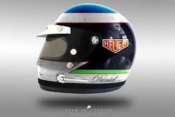 Daniel Ricciardo 1970's helmet concept