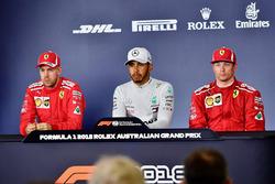 Press Conference: Sebastian Vettel, Ferrari, Lewis Hamilton, Mercedes-AMG F1 and Kimi Raikkonen, Ferrari