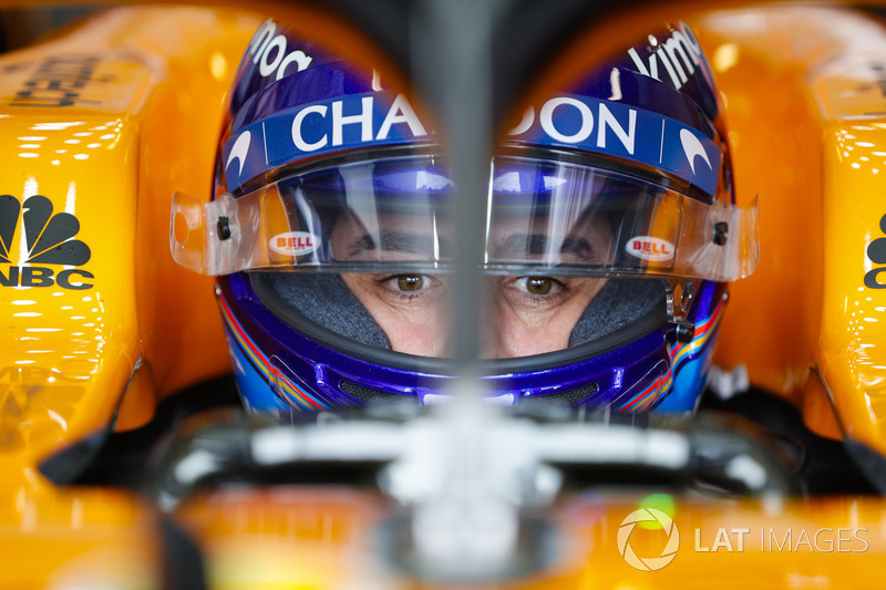 Fernando Alonso, McLaren, in his cockpit