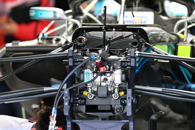 Mercedes-AMG F1 W09 chasis y detalles de suspensión delantera
