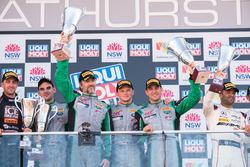 Podium Pro-AM: race winners Tim Pappas, Jeroen Bleekemolen, Luca Stolz, Marc Lieb, Black Swan Racing