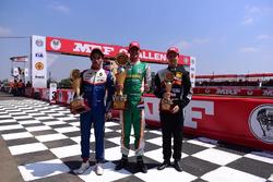 Podium Race 1: Rinus van Kalmthout, Presley Martono, Felipe Drugovich
