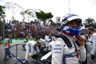 Sergey Sirotkin, Williams Racing, in griglia di partenza