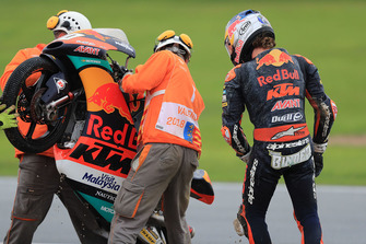 Darryn Binder, Red Bull KTM Ajo, after crash