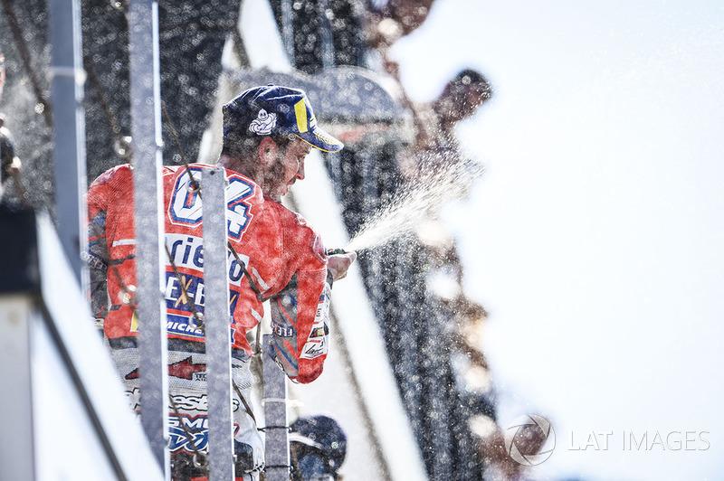 Подіум: переможець Андреа Довіціозо, Ducati Team