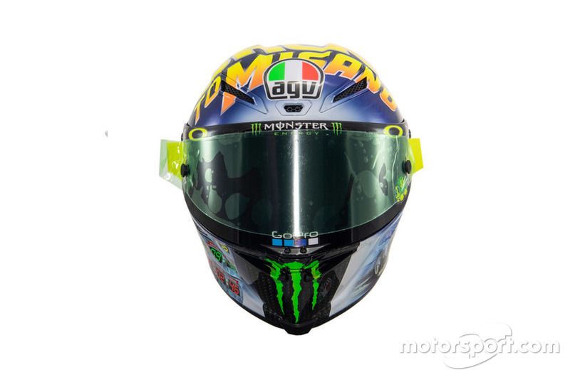 """Le casque spécial """"Back to Misano"""" de Valentino Rossi, Yamaha Factory Racing"""