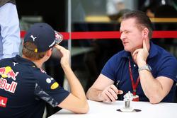 Max Verstappen, Red Bull Racing con su padre Jos Verstappen