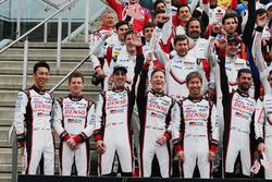 Kazuki Nakajim, Anthony Davidson, Sebastien Buemi, Mike Conway, Kamui Kobayashi, Jose Maria Lopez, Toyota Gazoo Racing