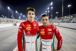 Polesitter Charles Leclerc, PREMA Racing, second place Antonio Fuoco, PREMA Racing