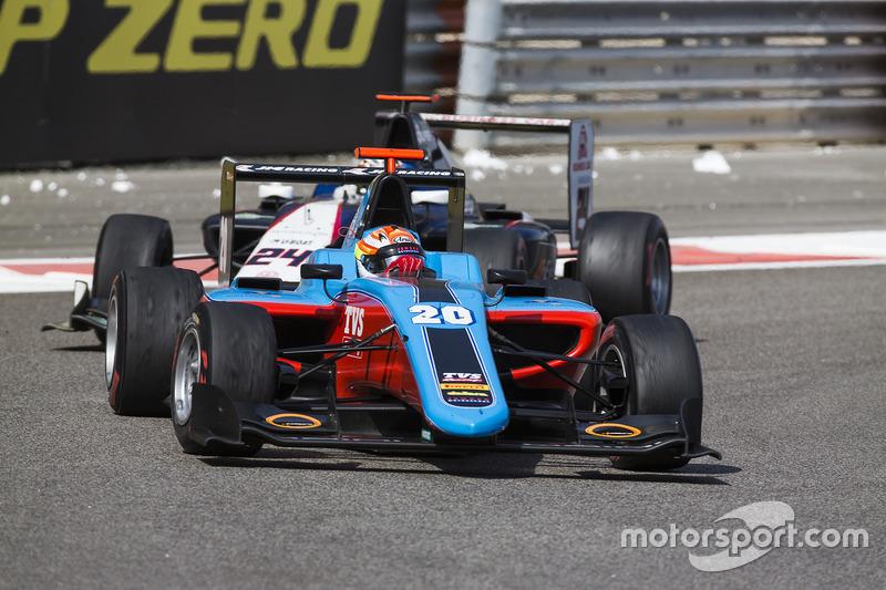 Arjun Maini, Jenzer Motorsport y Konstantin Tereschenko, Campos Racing