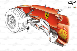 Ferrari F2004 bargeboards