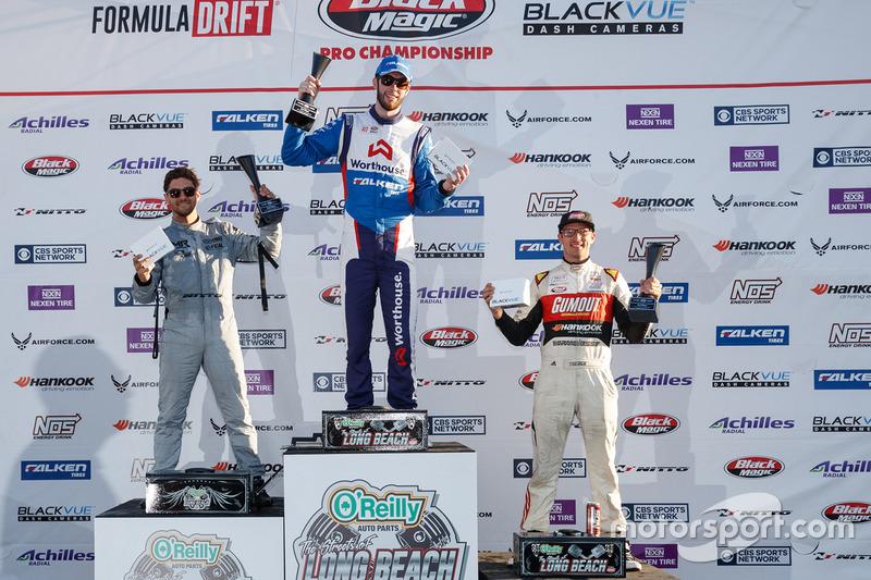 Podium: winner James Deane, second place Alex Heilbrunn, thid place Ryan Tuerck