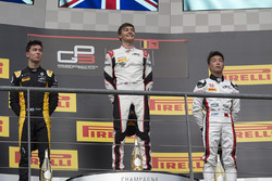 Podium: race winner George Russell, ART Grand Prix, second place Jack Aitken, ART Grand Prix, third place Nirei Fukuzumi, ART Grand Prix