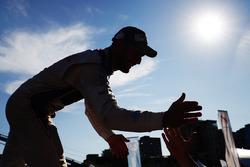 Jose Maria Lopez, DS Virgin Racing, celebrates with his team