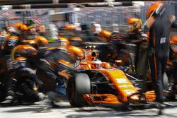 Arrêt au stand pour Stoffel Vandoorne, McLaren MCL32