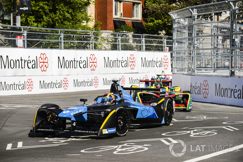 Sébastien Buemi, Renault e.Dams, y Daniel Abt, ABT Schaeffler Audi Sport