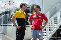 Sebastian Vettel, Ferrari ve Remi Taffin, Renault Sport F1 Pist Operasyonları Şefi