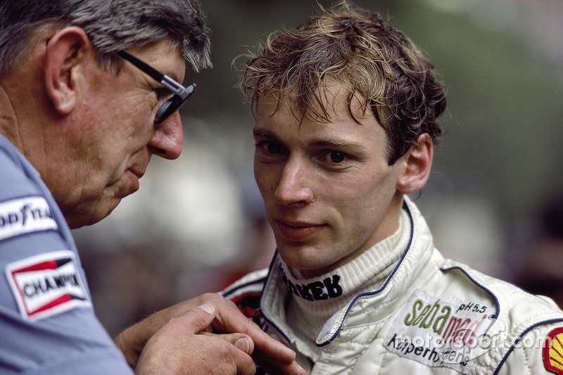 Stefan Bellof with team boss Ken Tyrrell
