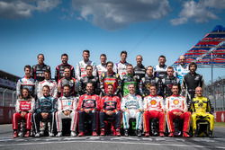The 2017 Supercars drivers team photo