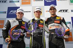 Rookie Podium: Winner Lando Norris, Carlin Dallara F317 - Volkswagen, second place Joey Mawson, Van Amersfoort Racing, Dallara F317 - Mercedes-Benz, third place Jehan Daruvala, Carlin, Dallara F317 - Volkswagen