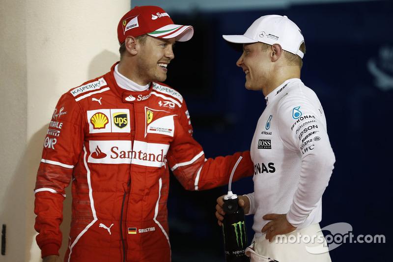 Polesitter: Valtteri Bottas, Mercedes AMG, third place Sebastian Vettel, Ferrari