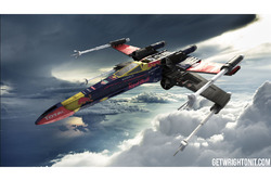 Star Wars X-Wing with Red Bull Racing livery