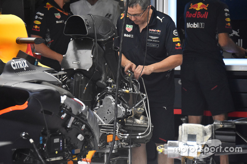 Red Bull RB13: Chassis mit Motor