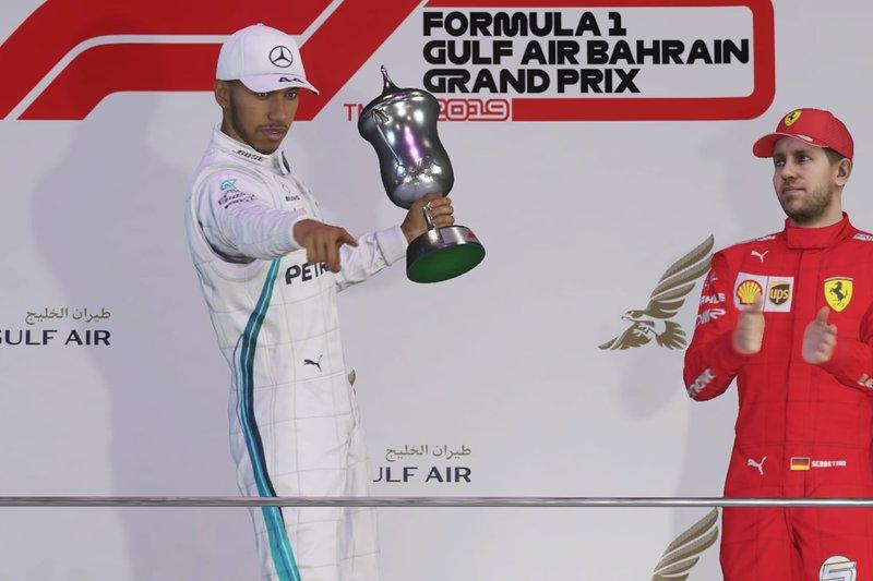 F1 2019: Lewis Hamilton (Mercedes), Sebastian Vettel (Ferrari)