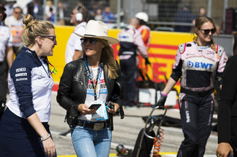 A VIP guest in a cowboy hat on the grid