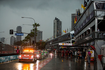 Safety car in the pitlane