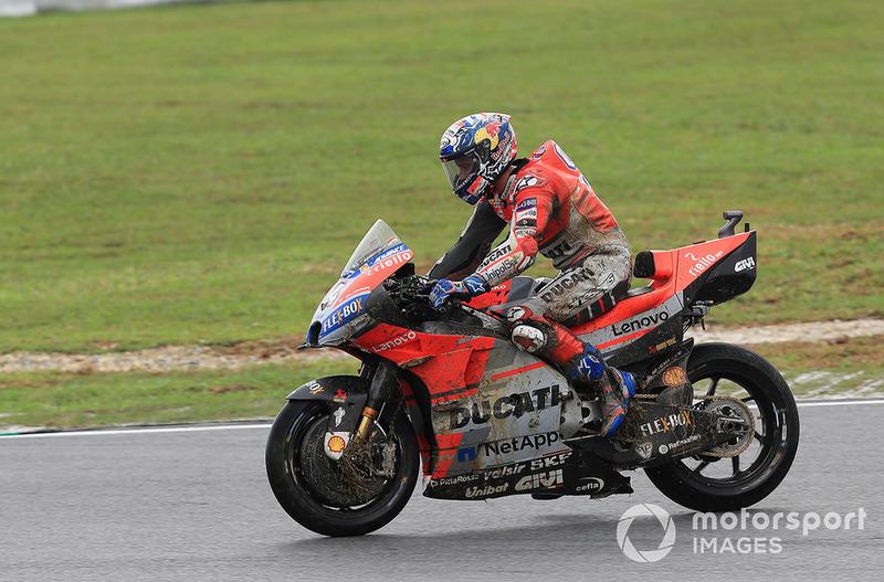 Andrea Dovizioso, Ducati Team crash