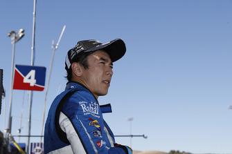 Takuma Sato, Rahal Letterman Lanigan Racing Honda watches from the pit wall after retiring