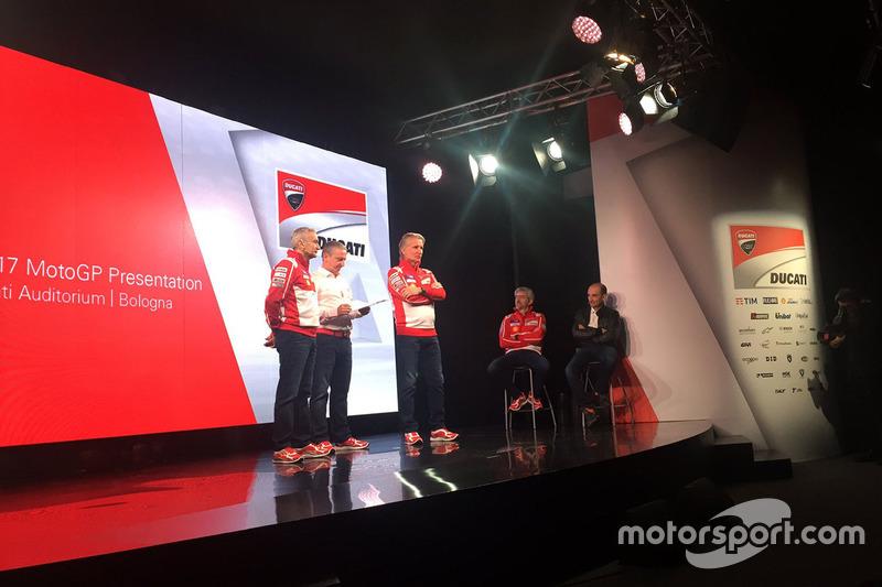 Davide Tardozzi, Ducati Team Team Principal de Ducati, Paolo Ciabatti, director deportivo de Ducati Corse